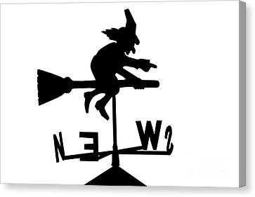 Witch On A Broomstick Canvas Print by Simon Bratt Photography LRPS