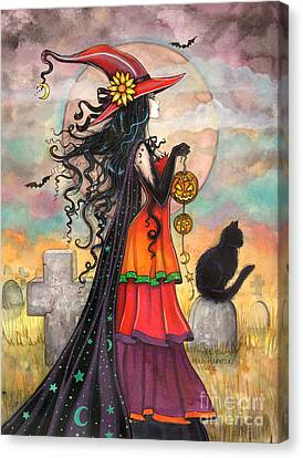 Witch Way Canvas Print by Molly Harrison
