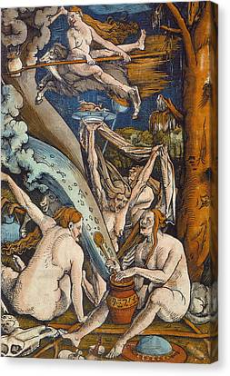 Witches Canvas Print by Hans Baldung Grien