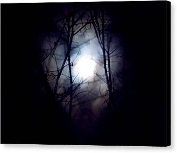 Witch's Moon Canvas Print by Wild Thing