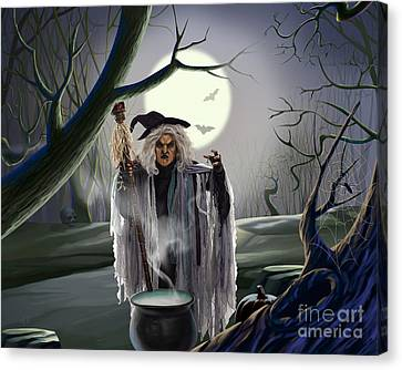Witch's Potion Canvas Print by Bedros Awak
