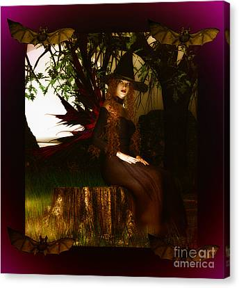 Witchy Woman Canvas Print by Eva Thomas