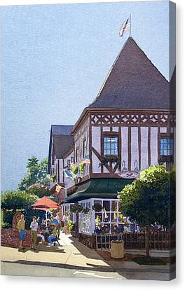 With Friends At Stratford Square Canvas Print by Mary Helmreich