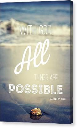 With God Canvas Print