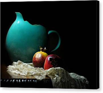 With Pomegranate Canvas Print by Diana Angstadt