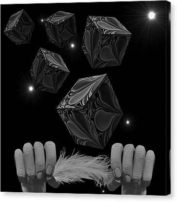 With The Lightest Touch Bw Canvas Print by Barbara St Jean