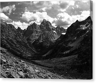 Within The North Fork Of Cascade Canyon Canvas Print by Raymond Salani III