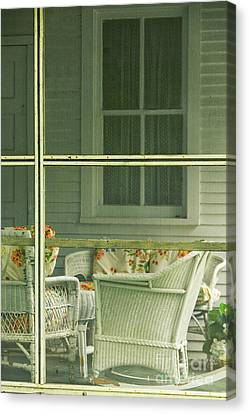 Within The Screened Porch Canvas Print by Margie Hurwich
