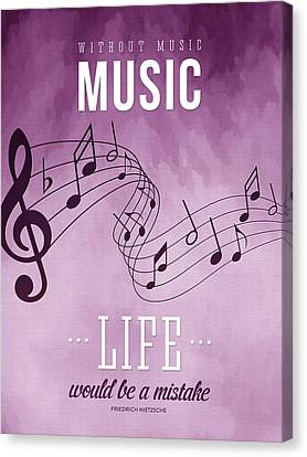 Melody Canvas Print - Without Music Life Would Be A Mistake by Aged Pixel
