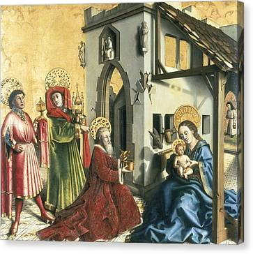 The Sacred Feminine Canvas Print - Witz, Konrad 1400-1445. The Adoration by Everett