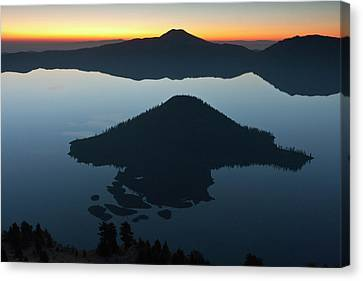 Wizard Island At Dawn, Crater Lake Canvas Print by William Sutton