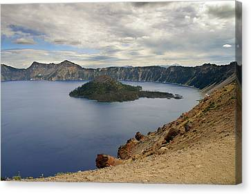 Wizard Island - Crater Lake Oregon Canvas Print by Christine Till