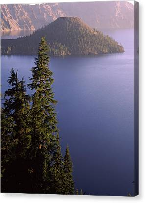 Wizard Island Canvas Print - Wizard Island From Rim Village by Panoramic Images