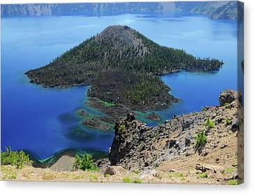 Wizard Island Canvas Print - Wizard Island From The Watchman, Crater by Michel Hersen