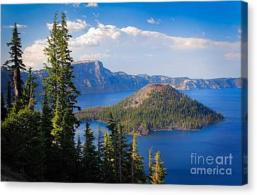 Wizard Island Canvas Print - Wizard Island by Inge Johnsson