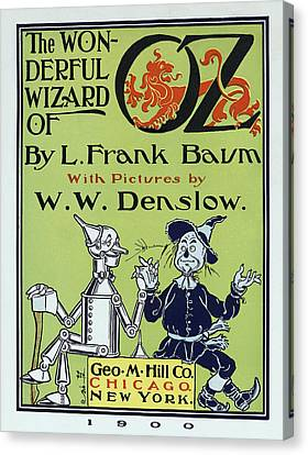 Wizard Of Oz Book Cover  1900 Canvas Print by Daniel Hagerman