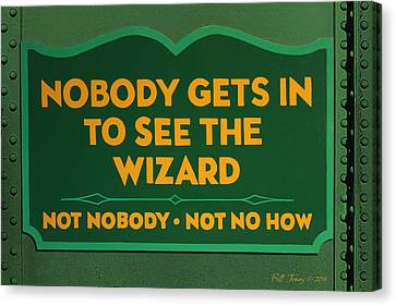 Wizard Sign Canvas Print by Bill Jonas