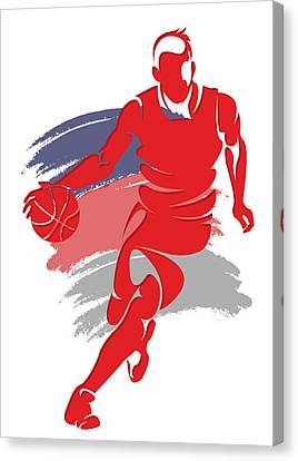 Wizards Basketball Player6 Canvas Print by Joe Hamilton