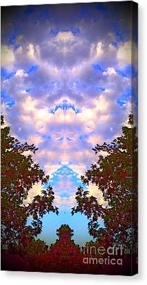 Canvas Print featuring the photograph Wizards In The Clouds by Karen Newell