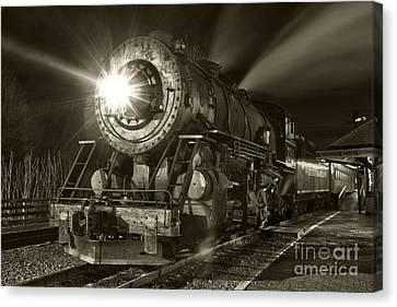 Wmsr Engine 734 At The Frostburg Depot Canvas Print by Jeannette Hunt
