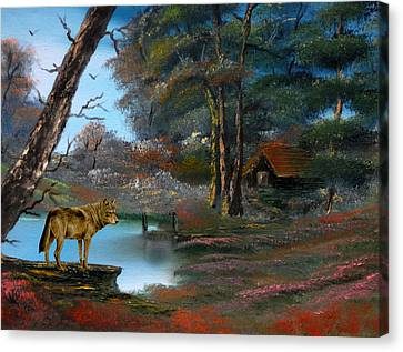Wolf Alert. Canvas Print by Cynthia Adams