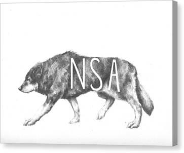Wolf Canvas Print by Alexander M Petersen