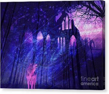 Wolf And Magic Canvas Print