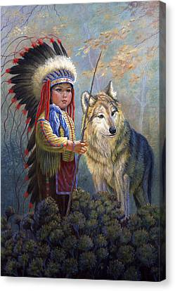 Wolf Boy Canvas Print by Gregory Perillo