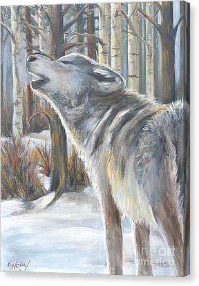 Wolf Canvas Print by Cher Devereaux