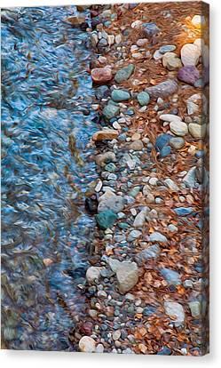 Wolf Creek Downstream Canvas Print by Omaste Witkowski