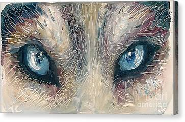 Canvas Print - Wolf by Donna Chaasadah