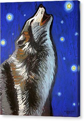 Wolf Howl Canvas Print by Genevieve Esson