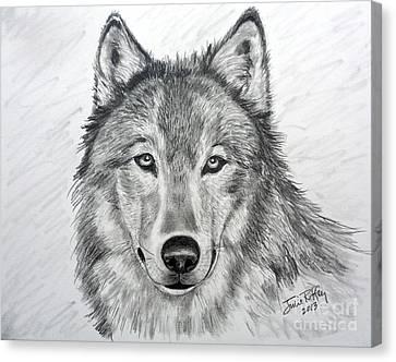 Wolf Canvas Print by Julie Brugh Riffey