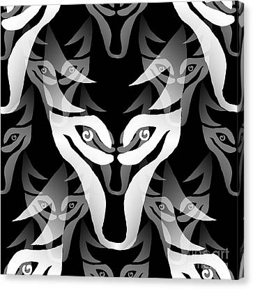Wolf Mask Canvas Print