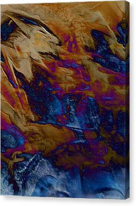 Canvas Print featuring the painting Wolf by Mike Breau
