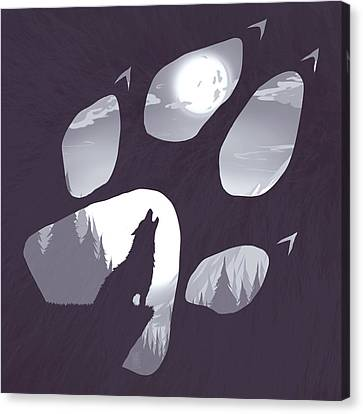 Lonely Canvas Print - Wolf Paw by Daniel Hapi