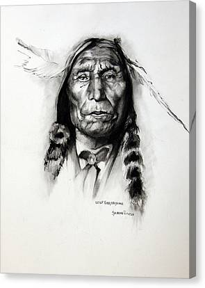 Wolf Robe - Cheyenne Canvas Print by Synnove Pettersen