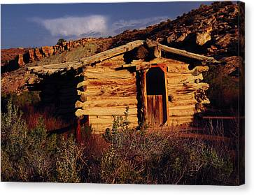 Wolfe Ranch Cabin, Arches National Canvas Print
