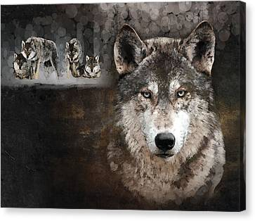 Wolf Gang Canvas Print
