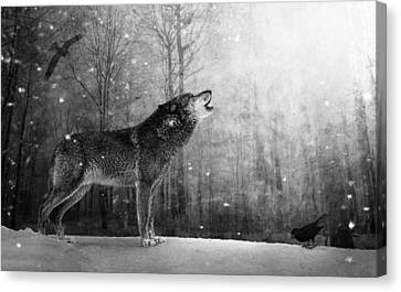Wolfheart Canvas Print by Marc Huebner