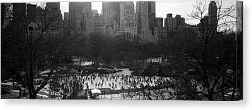 Wollman Rink Ice Skating, Central Park Canvas Print
