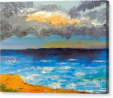 Wollongong Beach Canvas Print by Pamela  Meredith