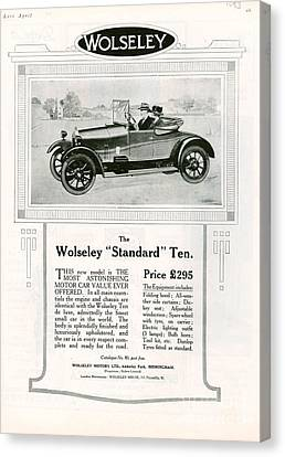 Wolseley 1923 1920s Usa Cc Cars Canvas Print by The Advertising Archives