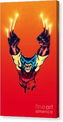 Wolverine  Canvas Print by Justin Moore