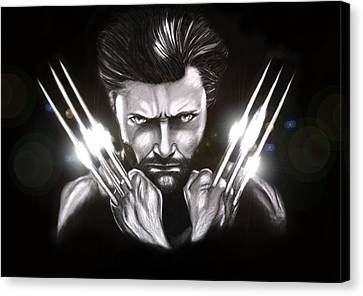 Wolverine Canvas Print by Kim Lagerhem