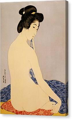 Woman After Bath Canvas Print by Georgia Fowler