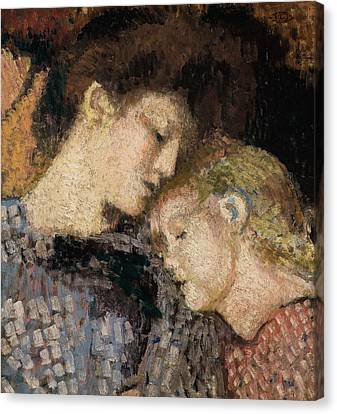 Woman And Child Canvas Print by Georges Lemmen