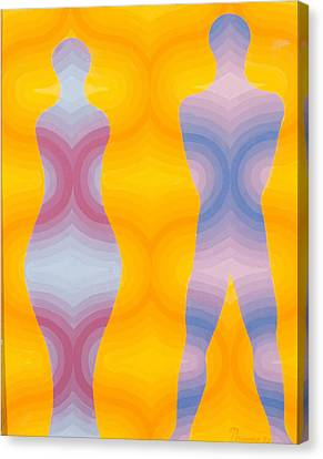 Woman And Man Canvas Print by Emil Parrag