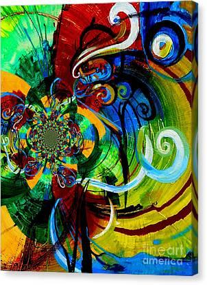 Woman Bass Kaleidoscope Canvas Print