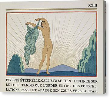 Woman Dancing Canvas Print by Georges Barbier